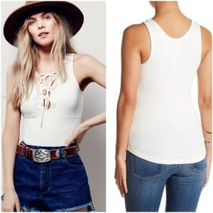 Free people Emmy Lou laced up tank